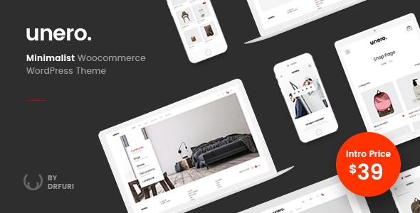 Unero v1.0.1 — Minimalist AJAX WooCommerce WordPress Theme