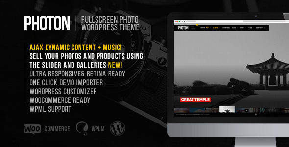 Photon v1.3.0 — Fullscreen Photography WordPress Theme