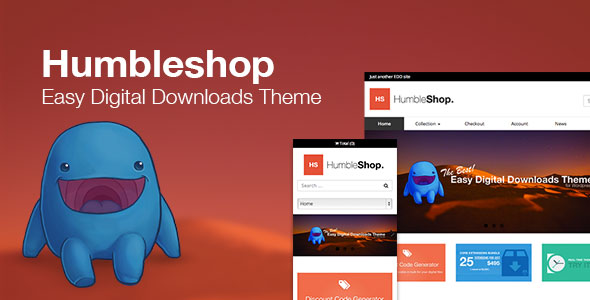 Humbleshop v1.2.3 — Minimal Easy Digital Downloads Theme
