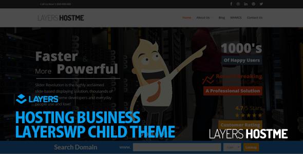 Hostme v2.3.0 — LayersWP Multipurpose Child Theme