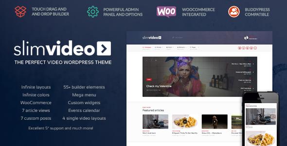 Slimvideo v1.0.3 — Video WordPress Community Theme