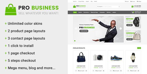 Pro Business v1.1 — Multipurpose Prestashop Theme