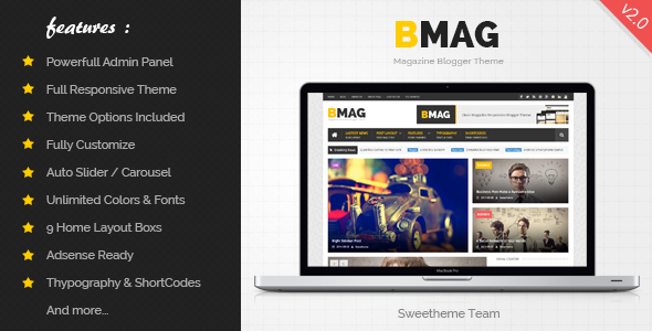 BMAG v2.1.1 — Magazine Responsive Blogger Template