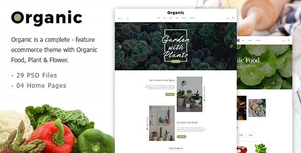 Organic — Responsive Organic Food & Store PSD Template