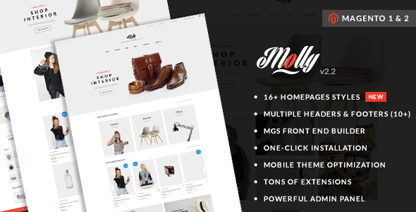 Molly v2.5 — Elegant & Clean Multipurpose Magento 2 & 1 Theme