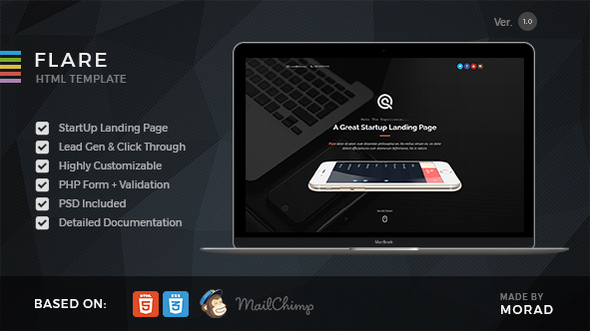 Flare — HTML Startup Landing Page Template