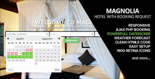 HOTEL MAGNOLIA with Booking request v1.5