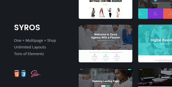 Syros — Multi-purpose Modern HTML5 Template