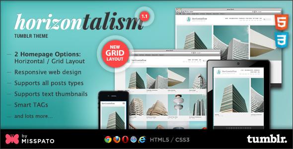 Horizontalism Tumblr Theme v1.1