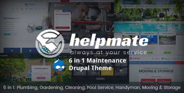 Helpmate — 6 in 1 Maintenance Drupal Theme