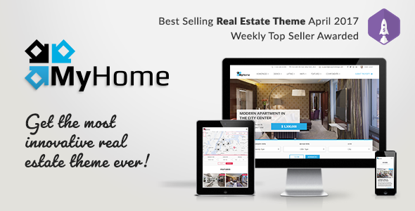 MyHome v1.0.4 — Real Estate WordPress Theme