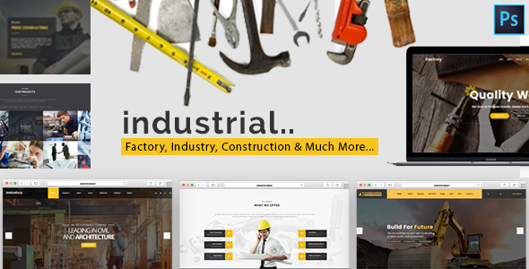 Industrial — Factory, Industry & Construction HTML Template