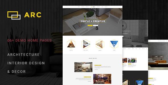 ARC — Interior Design, Decor, Architecture Business PSD Template