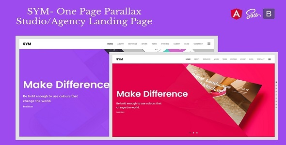 Sym — One Page Parallax Studio/Agency Landing Page