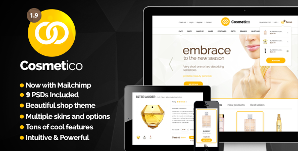 Cosmetico v1.9.3 — Responsive eCommerce WordPress Theme
