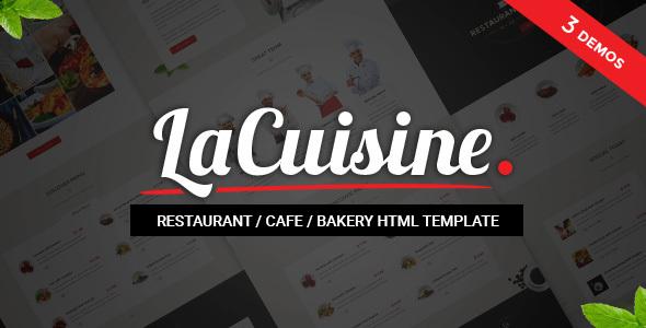 LaCuisine — Restaurant HTML Theme