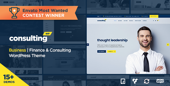 Consulting v3.6 — Business, Finance WordPress Theme