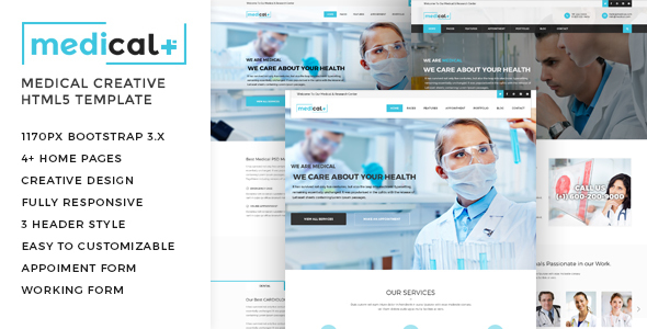 Medical — Health Care, Clinic HTML5 Template