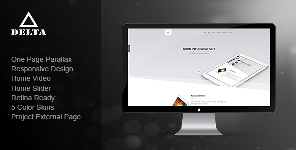 Delta — Responsive One Page Parallax Template