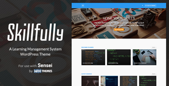 Skillfully v2.0.3 — A Learning Management System Theme