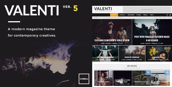 Valenti v5.5.2 — WordPress HD Review Magazine News Theme