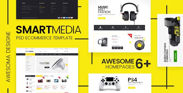 Smart Media — Ecommerce PSD Template