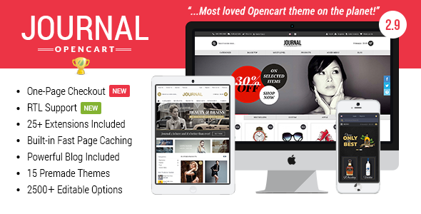 Journal v2.9.8 — Advanced Opencart Theme