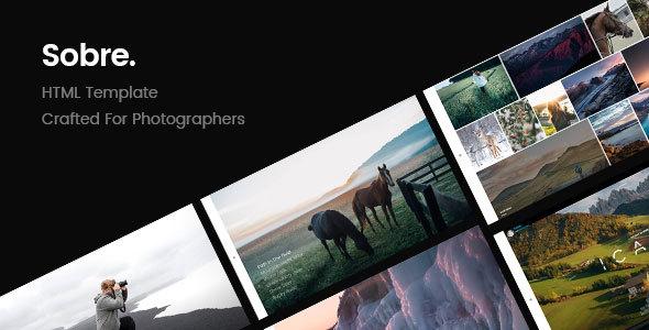 Sobre — Minimal Photography Portfolio HTML Template
