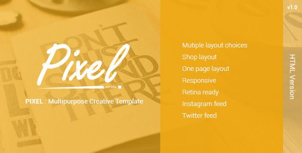 PIXEL — Multipurposes Creative Template