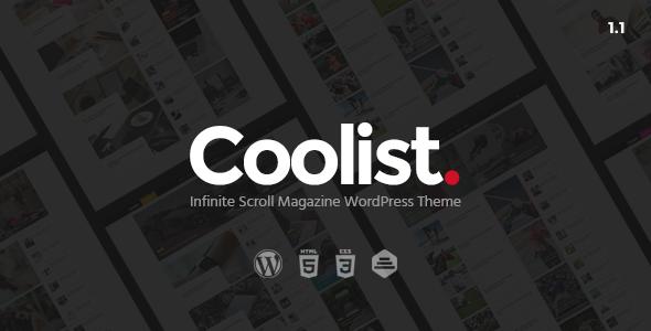 Coolist v1.2 — Infinite Scroll Magazine WordPress Theme