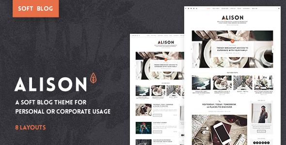 Anne Alison v1.1.0 — Soft Personal Blog Theme