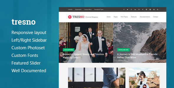 Tresno — Personal Blog Tumblr Theme