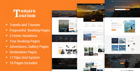 Tamara — Travel Agency and Tourism PSD Template