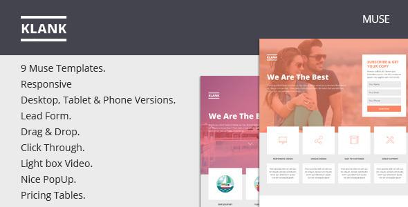 Klank — Multipurpose Landing Page Muse Template