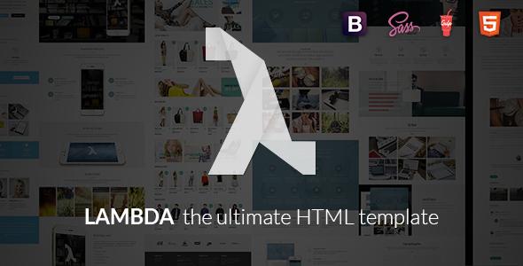Lambda — Multi Purpose Bootstrap HTML Template
