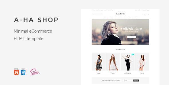 A-ha Shop — Minimal Elegant eCommerce HTML Template