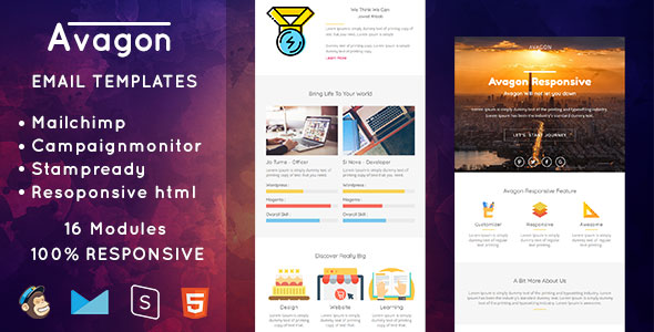 Avagon — Responsive Email Templates