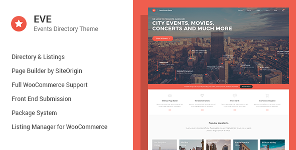 EVE v1.0.19 — Events Directory WordPress Theme