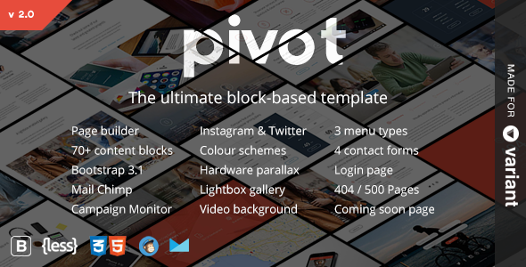 Pivot v2.0.3 — Multi-Purpose HTML with Page Builder