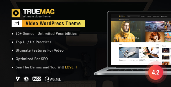 True Mag v4.2.10 — WordPress Theme for Video and Magazine