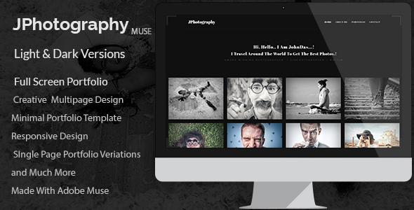 JPhotography — Minimal Photography Portfolio Muse Template