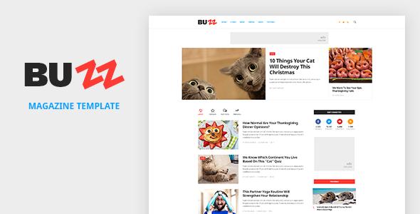 BUZZ — News, Magazine, Viral & Buzz PSD Template