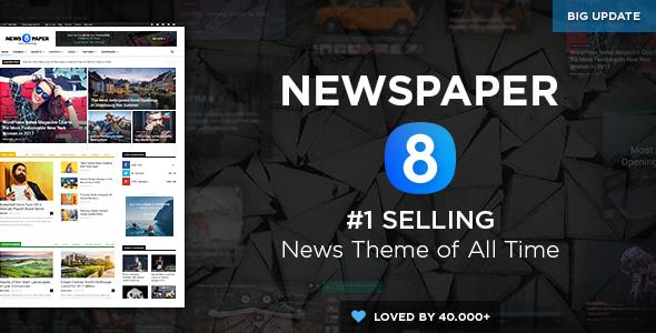 Newspaper v8.0 — WordPress News Theme