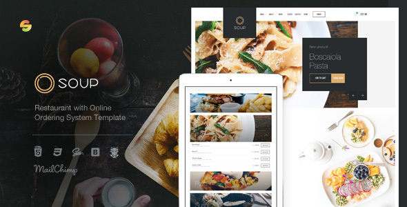 Soup — Restaurant with Online Ordering System Template