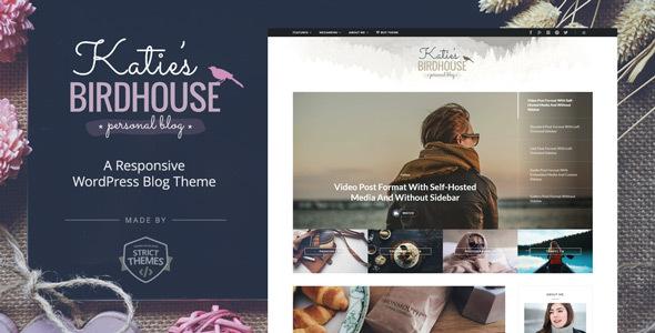 BirdHouse v1.0.2 — A Responsive WordPress Blog Theme