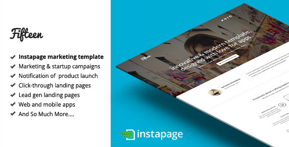 Fifteen — Instapage Marketing Template