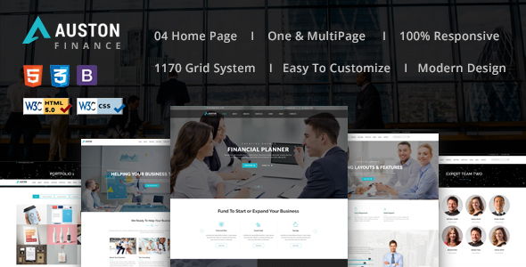 Auston — Finance, Corporate and Consulting Business HTML5 Template