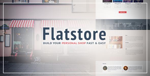 Flatstore v1.1 — eCommerce Muse Template for Online Shop