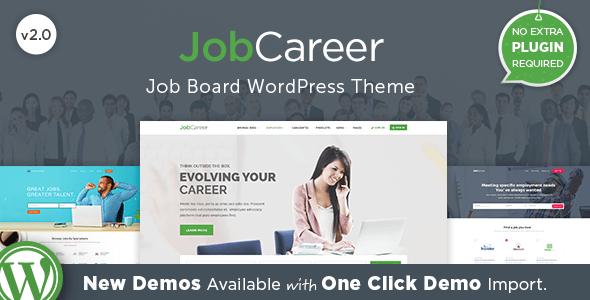 JobCareer v2.0 — Job Board Responsive WordPress Theme