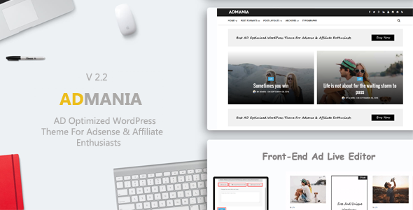 Admania v2.2 — Best AD Optimized WordPress Theme For Adsense
